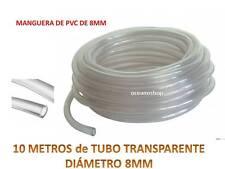 10 METROS TUBO 8MM TRANSPARENTE 10m Flexible No Tóxico Manguera De PVC Acuario