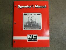 Massey Ferguson 230 tractor owners & maintenance manual