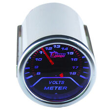 "Car Motor Pointer Smoke Tint Len 2"" 52mm Volt Voltage Gauge Meter Dials Face"