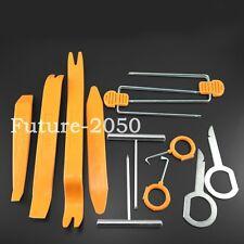 12pcs Car Radio Door Clip Panel Trim Dash Audio Removal Pry Tool Orange