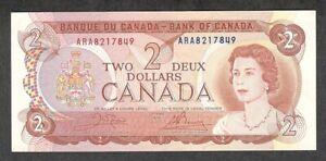 1974 $2.00 AU EPQ CRISP Multicoloured QEII Bank of Canada BEAUTIFUL Two Dollars