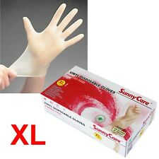 100 SunnyCare Powder Free Vinyl Gloves Food Service (Latex Nitrile Free) 🔥🔥 XL