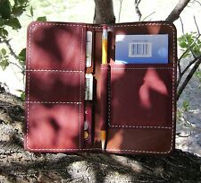 I Phone Case Genuine Leather Note Pad CC Money Checkbook slots Custom Made Nice