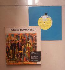 POESIA ROMANESCA DELL'ARCO ROMA LIBRO CON 45 GIRI 1962