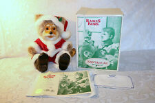 Robert Raikes SANTABEAR Santa Bear Applause Phillipines 1992 Wood Plush Box COA