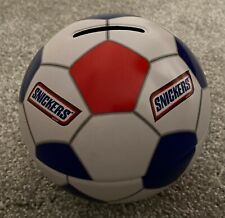 Vintage 1997 SNICKERS Tin Soccer Ball Bank