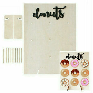 9 Donut Wall Stand Wooden Doughnut Sweets Candy Birthday Party Wedding Decor