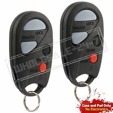 2 Replacement For 2000 2001 Nissan Maxima Key Fob Shell Case