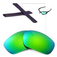 New Walleva Polarized Emerald Lenses And Black Earsocks For Oakley Jawbon