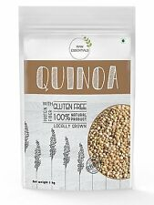 Raw Essentials gluten free Authentic White Quinoa 1kg (Premium Quality, Saponin