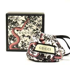 "GUCCI Small Gift Box Serpent in Garden Print w/Pouch BLK 3.25 "" x 3.25"" x 2.25"""