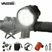Powerful 60000LM 16x XML T6 LED Bicycle Lamp Bike Light Cycling Torch Headlight