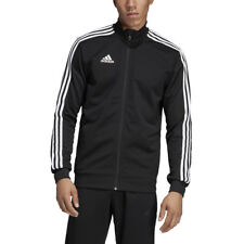Men\u2019s Leather LambSkin Leather Black Tracksuit withThree White Stripe Jogging Touser and Jacket