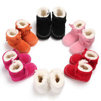 Baby Girls Soft Sole Booties Snow Boots Infant Toddler Newborn Winter Warm Shoes
