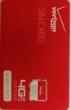 Verizon Micro 3Ff Sim Card • Cdma 4G Lte • New Genuine Oem • Prepaid or Contract