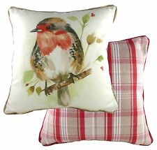 Evans Lichfield Country Robin Cushion Cover NEW 26661