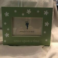 """Pottery Barn Kids Green """"Once Upon a Time"""" Frame (Never Used)"""