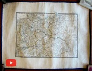 Prussia Poland Central Europe Austria 1830 Brue linen backed large map