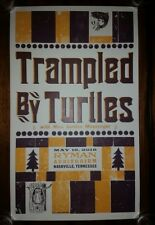 TRAMPLED BY TURTLES Ryman HATCH SHOW PRINT Nashville 2018 Tour Poster Hiss