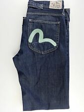 Evisu Puma Men's Jeans Straight Leg Dark Wash Size 38 X 36 EXCLUSIVE ART