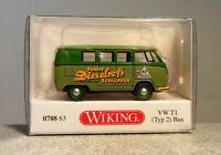Wiking 1:87 0788 63 VW T1 Typ 2 Bus Agri Technica neuwertig mit OVP