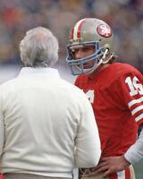 1984 San Francisco 49ers BILL WALSH & JOE MONTANA Glossy 8x10 Photo Poster