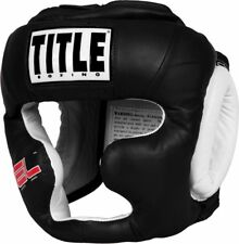 Title Boxing Gel-Full Face Training Headgear - Black (NEW)