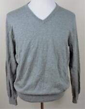 J CREW~Mens Sz L~V-Neck~Long Sleeve~Gray~Cashmere Blend~Sweater