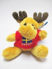 Elch Schweden Magnet rot Plüsch !!! Souvenir Poly Sweden Skandinavien