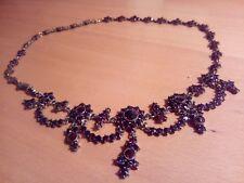 Granat Collier Silber Bömische Granaten,Halskette.