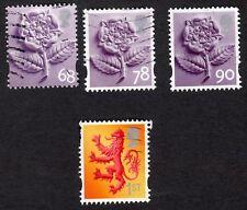 GB / England: 3 values of English Tudor Rose + Scottish lion; fine used