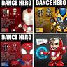 Dancing Spiderman Iron Man Bumblebee Toy Hand Model Robot Dance Hero Music Light