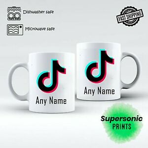 Tik Tok personalised Mug Gift Birthday gift free gift box - any name or text