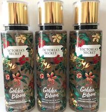 3 Victoria's Secret Fragrance Perfume Mist For Women Wild Flora Golden Bloom