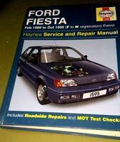 Haynes Workshop Manual Ford Fiesta Petrol 1989-1995  Service & Repair