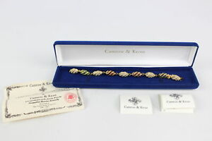 Signed Designer JBK CAMROSE & KROSS Rhinestone Bracelet, Jacqueline Kennedy