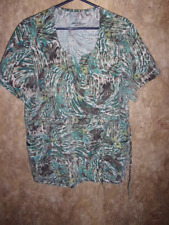 Jockey SCRUB TOP SIZE XL, TIES IN FRONT