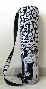 Yoga Bag Mat With Shoulder Strap Gym Exercise Cotton Mat Sports Bag Indian Art
