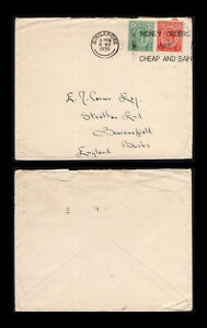 """Singapore 1935 8c rate cover to England with""""MOMEY ORDERS ARE CHEAP AND SAFE""""pmk"""