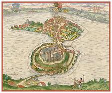 Ratzeburg Schleswig-Holstein Germany bird's-eye view map Braun Hogenberg ca.1598