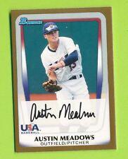 2011 Bowman Draft Picks Gold - Austin Meadows (BDPP100)  Pittsburgh Pirates