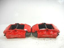"04-10 Porsche Cayenne 955 Turbo Rear Left & Right Brake Calipers Red 14.09"" OEM"