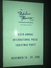 Flamingo Hotel 6th International Press Christmas Party Schedule Morris Lansburgh