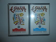 ESPANA VIVA RADIO AND TELEVISION SPANISH COURSE CASSETTES 1 & 2 / MADE IN U.K