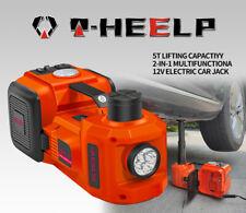 Electric Hydraulic Floor Jack Car Jack Lift 5ton 12v Tire Inflator Pump Tool Kit