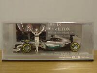 MINICHAMPS MERCEDES BENZ AMG F1 LEWIS HAMILTON 2014 CAR MODEL 410 140644 1:43