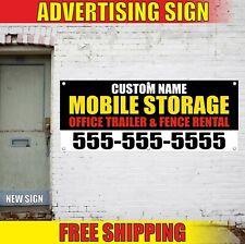 Mobile Storage Banner Advertising Vinyl Sign Flag Office Trailer Fence Rental