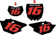2016-2017 Yamaha WR450F Custom Pre-Printed Black Backgrounds with Red Numbers
