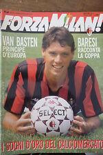 FORZA MILAN N 6  - 1989   VAN BASTEN BARESI - CON POSTER
