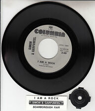 SIMON & GARFUNKEL  I Am A Rock & Scarborough Fair  45 NEW + juke box title strip